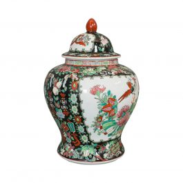 Vintage Spice Jar, Oriental, Ginger, Baluster Urn, Art Deco, 20th Century, 1940