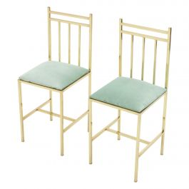 Rare Pair of Brass Child's Chairs Attributed to Marc Du Plantier, 1960s