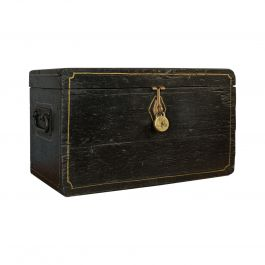 Antique Ebonized Carriage Chest, English, Pine, Tool Trunk, Victorian circa 1850