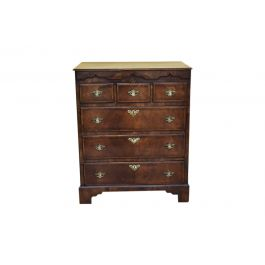 18th Century Figured Walnut Chest of Drawers