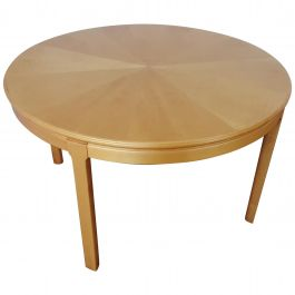 Midcentury Occasional Table in Satinwood by Carl Malmsten