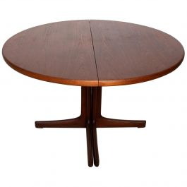 Midcentury Danish Modern Oval Tee Dining Table
