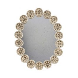 Oval Carved Indian Mirror