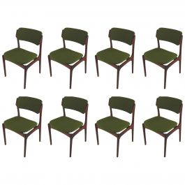 1960s Erik Buch Set of Eight Rosewood Dining Chairs