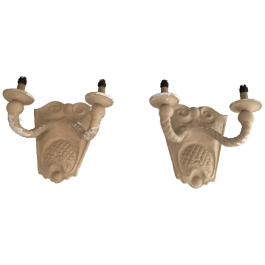 PAIR OF PLASTER WALL SCONCES. FRENCH. CIRCA 1940