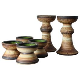 Ceramic Candlesticks from Denmark