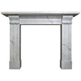 Antique Late Regency Marble Fireplace Mantel