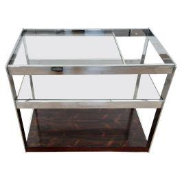 Midcentury Merrow Associates Rosewood and Chrome Bar Trolley