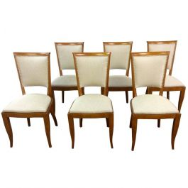 Art Deco Walnut Dining Chairs