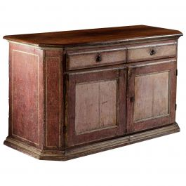 Large 18th Century Painted Italian Buffet or Sideboard in Dusty Pink