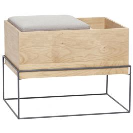 Oak Bench With Storage Section From Hubsch