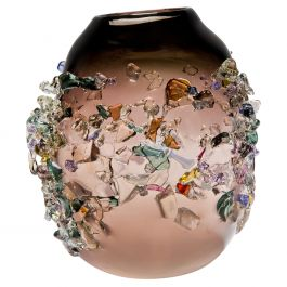 Sakura TRP19013, a Glass Vase in Brown with Mixed Colors by Maarten Vrolijk