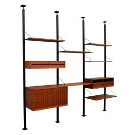 Poul Cadovius Royal Room-Divider Wall Unit in Teak, Denmark, circa 1960