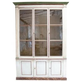 An early C19th French painted bookcase