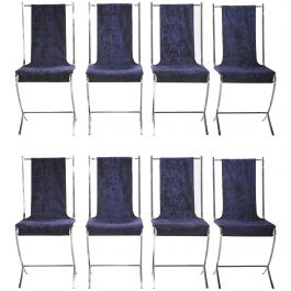 Set of Eight Chairs by Pierre Cardin for Maison Jansen, 1970s