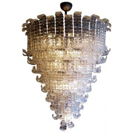 Mazzega Oversized Tiered Chandelier