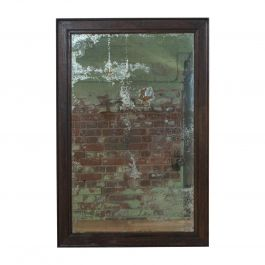 Antique Wall Mirror, English, Victorian, Distressed, Oak, circa 1850