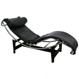 Le Corbusier Lounger LC4 Cassina Black Leather