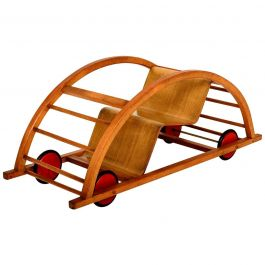 Vintage Schaukelwagen Swing and Race Car Toy, Midcentury