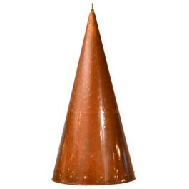 1950's Scandinavian Cone-Shaped Hand Beaten Copper Pendant Lamp