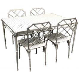 1960s Faux Bamboo Patio Set in the Style of Brown Jordan