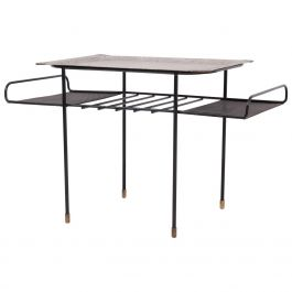 Mathieu Matégot Low Rigitule Table with Tray