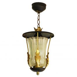 Midcentury Pendant Light Lantern Attributed to Poillerat