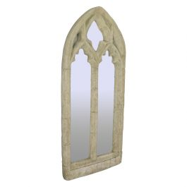 Vintage Wall Mirror, Pugin-esque, Gothic Revival, Stone, Ecclesiastical, C20th