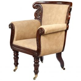 William IV Rosewood Library Armchair