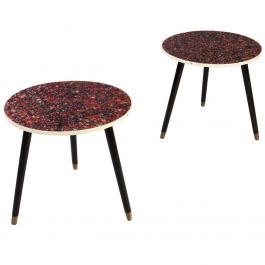 Faux Blue John French Occasional Tables