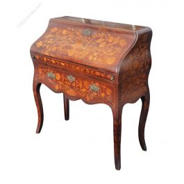 19th Century Dutch Marquetry Bureau