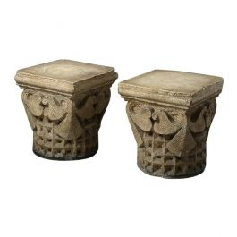 French Carved Plaster Capitals