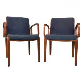 Pair of Midcentury Knoll Bentwood Armchairs by Bill Stephens, 1970s