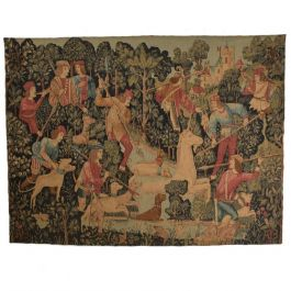 1970s Large Italian Wall Tapestry By Paris Panneaux Gobelins