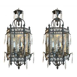 Pair of 19th Century French Bronze Lanterns
