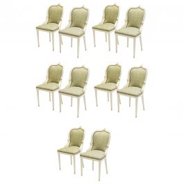 Extremely Rare Set of 10 Garouste & Bonetti 'Palace' Dining Chairs, 1980