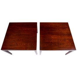 A Pair of Severin Hansen Coffee Tables in Rosewood For Haslev, Danish 1960's