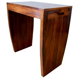 A small Art Deco side table with shaped legs