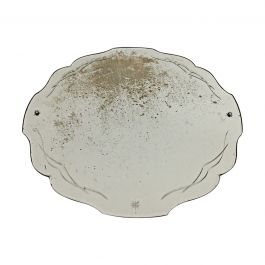 1940s Shell Shaped Engraved Mirror