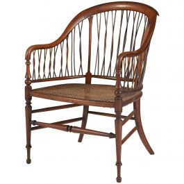 Mid-19th Century French Walnut Spindleback Armchair