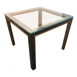 1970s Brass and Chrome Coffee Table by Janetti
