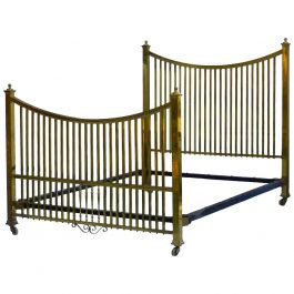 Brass Bed Maple & Co Antique Us Queen Uk King-Size, English, circa 1900