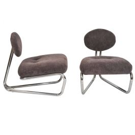Italian Modern Tubular Chrome Chairs