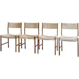 A Set Of Four Solid Jacaranda Side Chairs By Jorge Zalszupin (B. 1922)