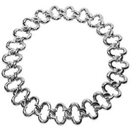 Van Cleef & Arpels 18 Karat White Gold 'Alhambra' Collar Necklace, 1998