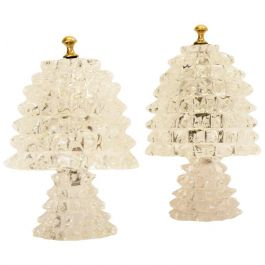 Rostrato Murano Glass Lamps