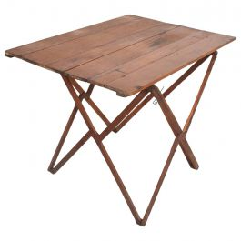 1950s Campaign Styled Folding Table