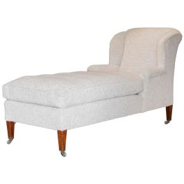 A Large Mahogany Chaise Longue By Howard & Sons