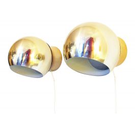 Pair of Swedish Wall Lights in Gold
