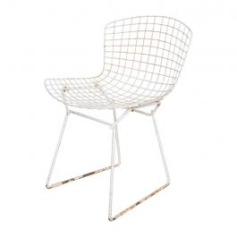 Mid-Century Modern Harry Bertoia for Knoll, Wire Side Chair White